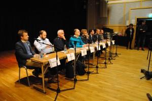 Bostadspolitisk debatt i Hallonbergen.